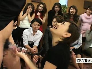 Subtitled CFNM Japan Milf TV..