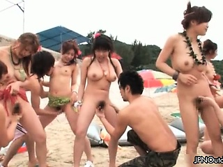 Outdoor lakeshore sex with a..