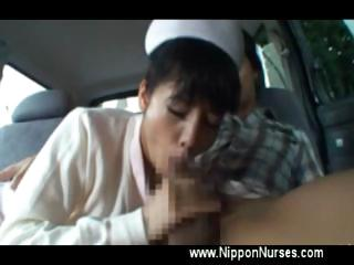 Nurse uniform asian blowjob..