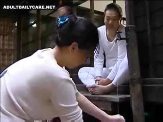 Plump Oriental wife waits..