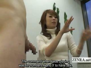 Subtitled Japanese CFNM orgy..