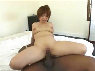Asian Girl Tries Big Black..