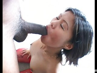 Hot Asian Babe suck a huge..